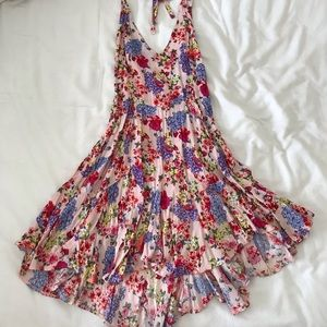 FREE PEOPLE backless halter dress